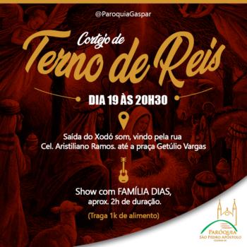 Cortejo de Terno de Reis acontece dia 19 na região central de Gaspar