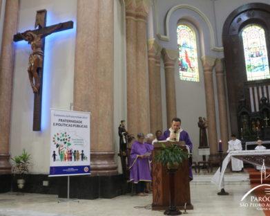 [FOTOS] Missa desta Quarta-Feira de Cinzas às 8h na Paróquia São Pedro Apóstolo
