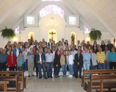 Retiro Paroquial de Ministros que ocorreu neste domingo (1º) na Capela Santo Antônio.